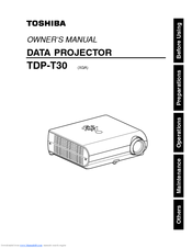 toshiba tdp t45 xga dlp projector manuals rh manualslib com Toshiba Remote Manuals Toshiba TV Owners Manual