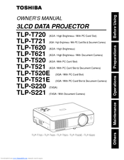 Toshiba TLP-T721 Owner's Manual
