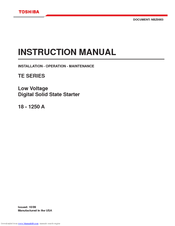 Toshiba TE Series Instruction Manual