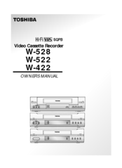 toshiba w 528 manuals rh manualslib com toshiba w528 vcr manual Toshiba Laptop User Manual