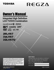 toshiba 32lv67u 32 lcd tv manuals rh manualslib com toshiba 32 flat screen tv manual toshiba regza 32 lcd tv manual