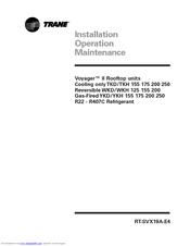 Trane Voyager II YKH 175 Manuals