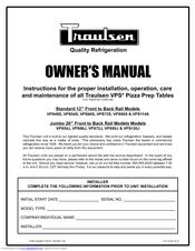 traulsen vps114s manuals. Black Bedroom Furniture Sets. Home Design Ideas
