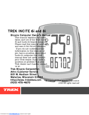 trek incite 6i owner s manual pdf download rh manualslib com Trek Incite 8I User Manual Trek Incite 8I Manual