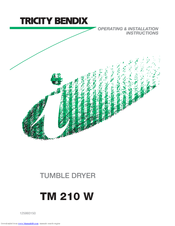 Tricity Bendix TM 220 W Operating & Installation Instructions Manual