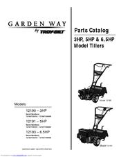 Troy Bilt Garden Way 12190 Parts Catalog