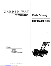 Troy Bilt Garden Way 12194 Parts Manual