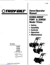 Troy-Bilt 15009 Owner's/operator's Manual