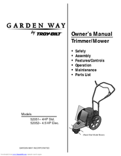Manuals And User Guides For Troy Bilt Garden Way 52051. We Have 1 Troy Bilt  Garden Way 52051 Manual Available For Free PDF Download: Owneru0027s Manual