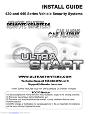 ultra start 430 series install manual pdf download rh manualslib com North Face Ultra Guide Shoes Droid Ultra Guide