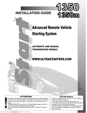 ultra start 1350 installation manual pdf download rh manualslib com North Face Ultra Guide Review Ultra Radio Guide