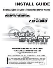 Ultra remote starter installation manual.