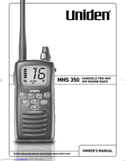 Uniden MHS 350 Owner's Manual