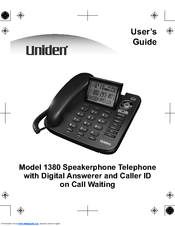 uniden 1380bk manuals rh manualslib com uniden telephone user manual uniden instruction manual dect 6.0