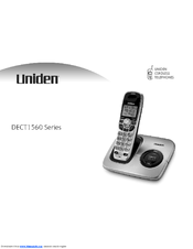 uniden dect1560 series user manual pdf download rh manualslib com Uniden -DECT 6.0 Cordless Phones Uniden WXI3077 Cordless Phone