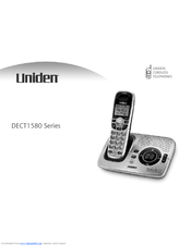 uniden dect1580 user manual pdf download rh manualslib com Uniden DECT1580 User Manual Cordless Phone Uniden DECT 1580