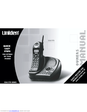 uniden user manual cordless phone