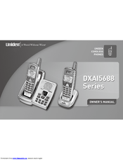 uniden dxai5688 2 dxai cordless phone manuals rh manualslib com Uniden Answering Machine Manual uniden dxa15588 2 manual