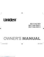 uniden dect elite 9035 2 manuals rh manualslib com