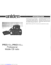 Uniden PRO510AXL Owner's Manual