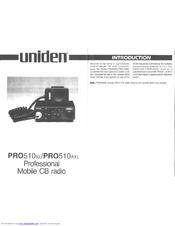 Uniden PRO510AXL Owner's Manual