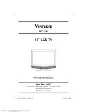 venturer 15 lcd tv plv7615h manuals rh manualslib com venturer tv instruction manual venturer under cabinet tv manual