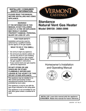 Vermont Castings SNV30 Manuals on