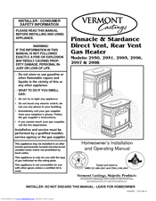 vermont castings pinnacle pdv20rfn manuals. Black Bedroom Furniture Sets. Home Design Ideas