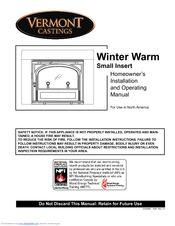 Manuals And User Guides For Vermont Castings Winterwarm Small Insert 2080 We Have 1 Manual Available Free