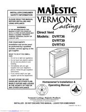 Vermont castings DVRT39 Pdf User Manuals. View online or download Vermont castings DVRT39 Homeowner