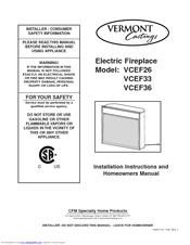 vermont castings vcef36 manuals. Black Bedroom Furniture Sets. Home Design Ideas