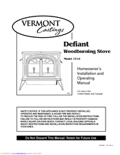 vermont castings defiant 1910 manuals rh manualslib com vermont castings defiant encore owner's manual Vermont Castings Defiant Model 1975