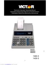 Victor 1460-3 Operating Manual