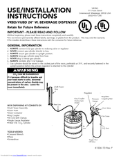 Viking vrbdvubd 24 w beverage dispenser manuals we have 1 viking vrbdvubd 24 w beverage dispenser manual available for free pdf download use installation instructions manual publicscrutiny Image collections