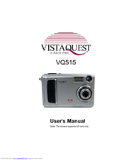 vistaquest vq515 manuals rh manualslib com Sony Digital Camera Canon Digital Camera Manual