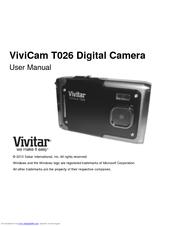 vivitar vivicam t026 manuals rh manualslib com Vivitar Camera User Manuals Vivitar Camera User Manuals