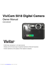 vivitar vivicam 5018 manuals rh manualslib com Vivitar Digital Camera Manual vivitar vivicam 5022 user manual