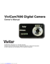 vivitar vivicam 7690 manuals rh manualslib com vivitar 7020 manual