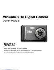 Instruction manual for vivitar vivicam 8225 by ryanjones4813 issuu.