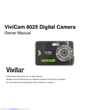 vivitar vivicam 8025 owner s manual pdf download