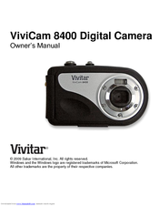 vivitar vivicam 8400 owner s manual pdf download