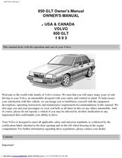 volvo 850glt owner s manual pdf download rh manualslib com 1993 Volvo 850 GLT Shirt 1993 Volvo 850 GLT Shirt