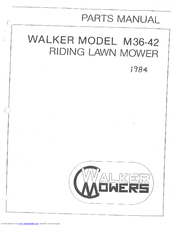 Walker M36-42 Manuals