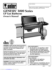 weber genesis 3000 series manuals rh manualslib com Weber Genesis Gold Replacement Thermometer Weber Genesis Gold Grill Cover
