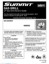 manuals and user guides for weber summit s620 we have 5 weber summit s620 manuals available for free pdf download owneru0027s manual - Weber Summit S 420