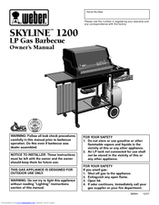 weber skyline 1200 lp manuals rh manualslib com weber genesis e-330 gas grill manual weber genesis e-310 grill manual
