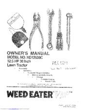 weed eater vip tiller manual