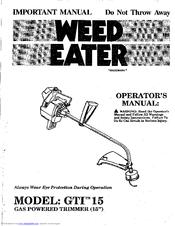 weed eater gti 15 manuals rh manualslib com weed eater gti 17t manual weed eater gti 19t owners manual