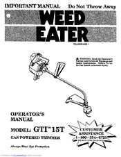 weed eater gti 15t operator s manual pdf download rh manualslib com weed eater gti 18 manual weed eater model gti 15 t manual
