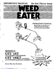 Weed eater gti 19t manual